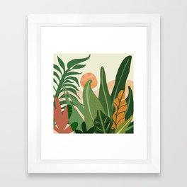 Desert Garden Sunset Framed Art Print