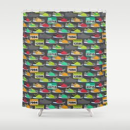 Running Shoes and Race Bibs Shower Curtain