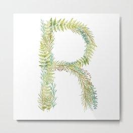 Initial R Metal Print