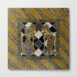 Batik Rama Sinta Metal Print