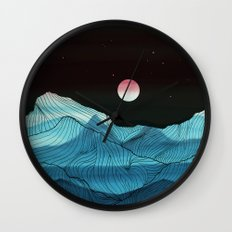 Lines in the mountains XV Wall Clock