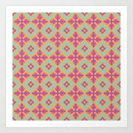 Traditional tile pattern Art Print