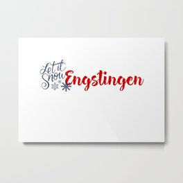 Engstingen and Winter Sports Metal Print