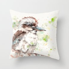 A Kookaburras Gaze Throw Pillow
