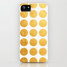 Minimalism golden circles iPhone Case