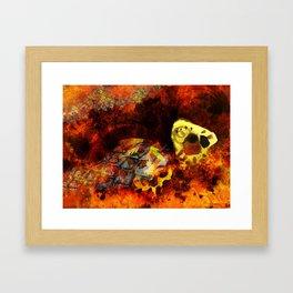 Chasing bugs. Framed Art Print