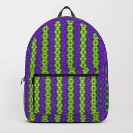 Pattern 13 alien purple and green stripes Backpack