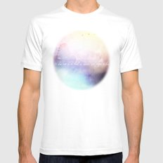 It does not do to dwell on dreams MEDIUM Mens Fitted Tee White