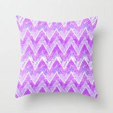 purple snow chevron Throw Pillow