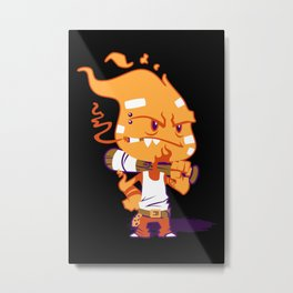 Fire Punk Metal Print