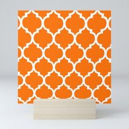 MOROCCAN ORANGE AND WHITE PATTERN 2020 Mini Art Print