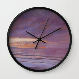 New Year's Day Sunset Wall Clock
