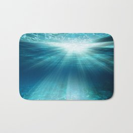 Light Rays Underwater Bath Mat