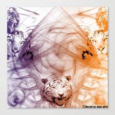 Tiger Family Canvas Print