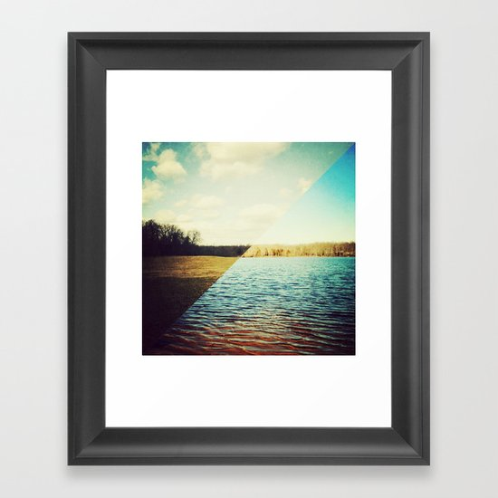 land/water Framed Art Print