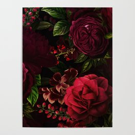 Vintage & Shabby Chic - Vintage & Shabby Chic - Mystical Night Roses Poster