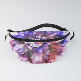 Painted Star Flower Abstract Fanny Pack
