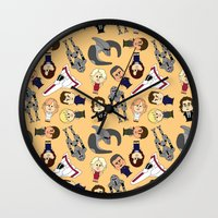 battlestar Wall Clocks featuring So Say We All by frauholle