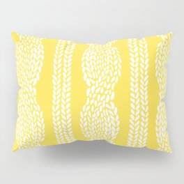 Cable Row Yellow Pillow Sham