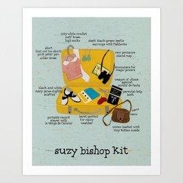 Suzy Bishop Kit Art Print