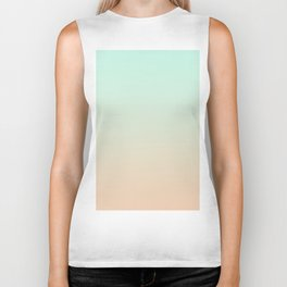 MELLOW TIMES - Minimal Plain Soft Mood Color Blend Prints Biker Tank