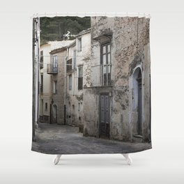 Sicilian Alley in Caltabellotta Shower Curtain