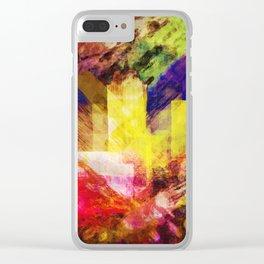 behind rainbow Clear iPhone Case