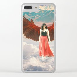 Lady of the Clouds Clear iPhone Case