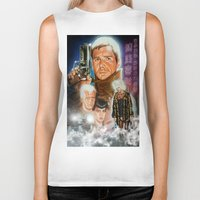 blade runner Biker Tanks featuring Blade runner by calibos