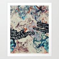 velvet underground Art Prints featuring Velvet Underground White Light/White Heat 45th Anniversary by nicholasasmita