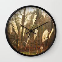 country Wall Clocks featuring country by Kayleigh Rappaport