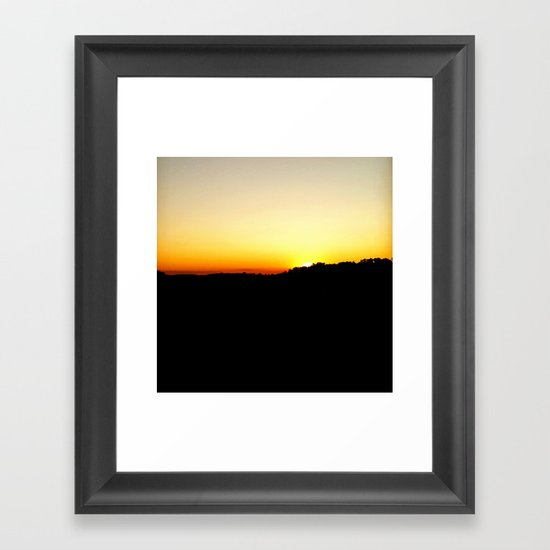 Warm Sunset Framed Art Print
