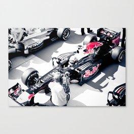 Vettel on Pole, COTA Canvas Print
