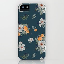 Orange Groves-Teal iPhone Case