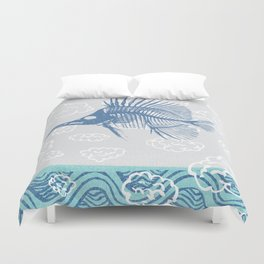 Fish ghost tall Duvet Cover