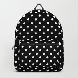 Black & White Polka Dot Pattern Backpack