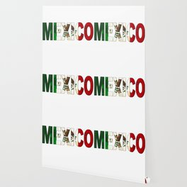 Mexico Font with Mexican Flag Wallpaper