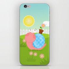 Pink Snail (female) iPhone Skin