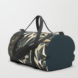 New Art Deco Geometric Pattern - Emerald green and Gold Duffle Bag