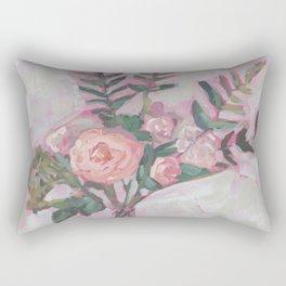 Pops of Hot Pink Florals Rectangular Pillow