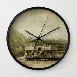 Riding The Great River Wall Clock