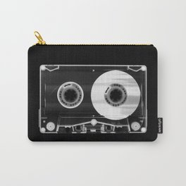 Black and White Retro 80's Cassette Vintage Eighties Technology Art Print Wall Decor from 1980's Carry-All Pouch