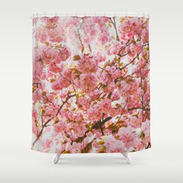 Beautiful Bundles Of Pink Cherry Blossoms In Full Bloom Japanese Sensibility Shower Curtain