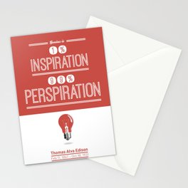 Lab No. 4 - Thomas Alva Edison Quote typography print Inspirational Quotes Poster Stationery Cards