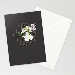 Tropical Flowers & Geometry III Stationery Cards