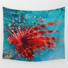 Lion Fish Wall Tapestry