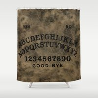 ouija Shower Curtains featuring Ouija by Andrea Raths