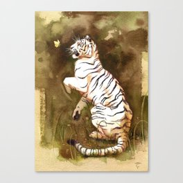 The Tiger and the butterfly Canvas Print