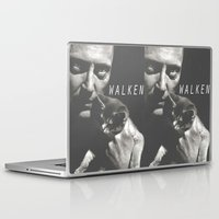 christopher walken Laptop & iPad Skins featuring Christopher Walken / Cat by Earl of Grey