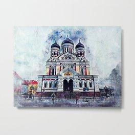 Alexander Nevsky Cathedral Tallinn Metal Print